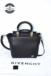 Image is loading AUTHENTIC-GIVENCHY-Black-Matte-Calfskin-Leather-Small- Givenchy- ba97ba5552a2d