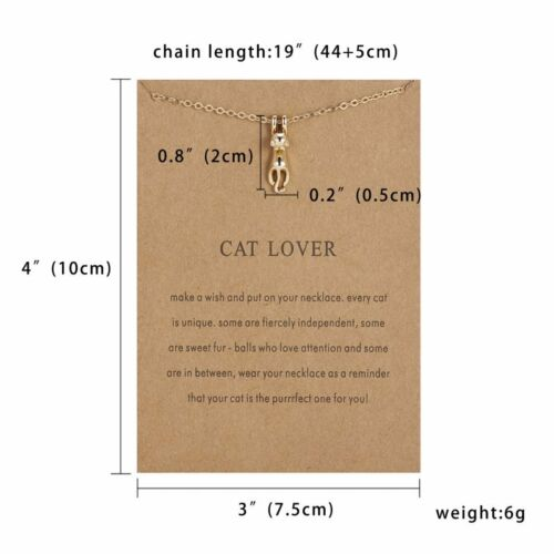 Animal Lady Women Necklace Pendant Gold Clavicle Chains Choker Card Jewelry Gift