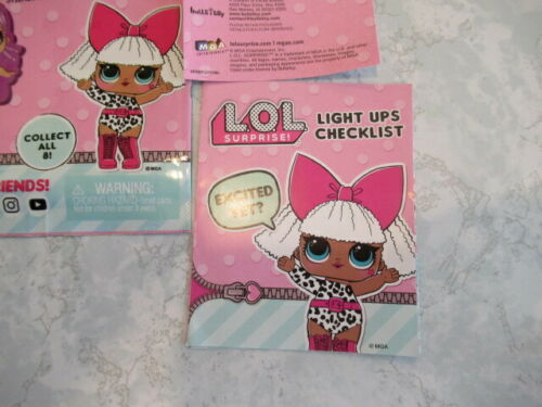 LEADING BABY LOL Surprise Light Ups Doll Key Chain Charm Blind Bag open