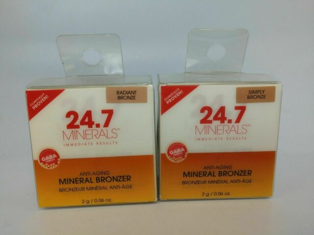 24.7 Minerals Anti-Aging Mineral Bronzer - Simply Bronze - NEW/SEALED