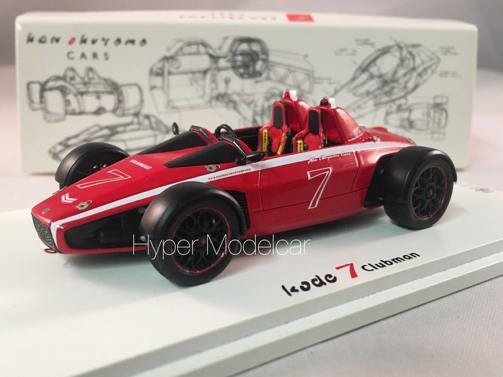 Spark 1 43 Kode 7 Clubman  7 Ken Okuyama Design rouge 500 Pcs Art. SJ028