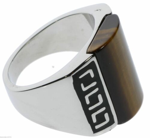 Details about  /Tiger Eye Lower Chakras Mens Healing Dome Ring 316 Stainless Steel Size 13