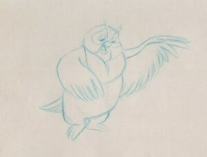 Fox-and-the-Hound-Production-Drawing-cel-Disney-1981-Big-Mama-owl-gentle-kind