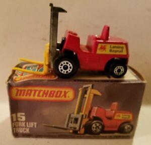 Vtg-1972-Matchbox-Suprfast-15-FORK-LIFT-TRUCK-Lesney-DieCast-C21-108