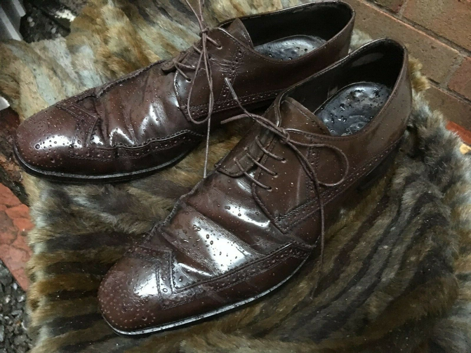 Vintage Original PRADA made in  Quality & Style  leather Brogues size 6.5
