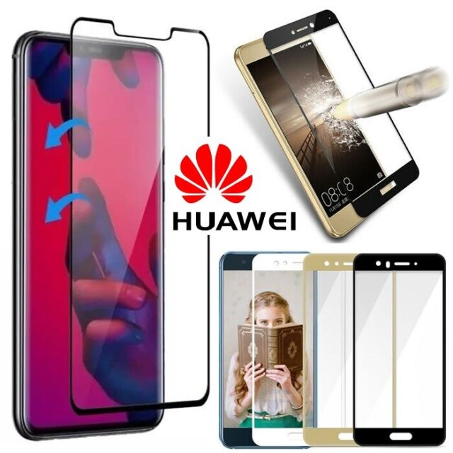new product 708cb 24921 3D FULL COVER 9H Hardness Tempered Glass Screen Protector for All Huawei  Models