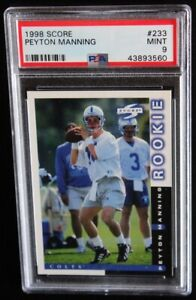 1998 Score Peyton Manning PSA 9 MINT #233 RC Rookie Indianapolis Colts