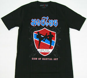 Top MUAY THAI T-Shirt - KING OF MARTIAL ART -Kickboxen-Shorts-UFC-MMA*