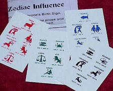 Zodiac Divination -- pocket packet mentalism trick that fools 'em!!      TMGS