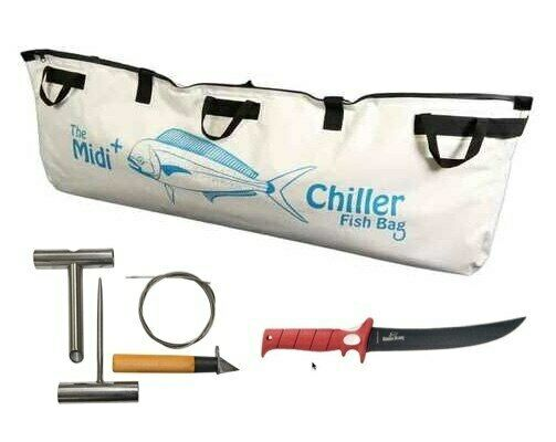 Tuna Tool Kit with Midi Plus  ller Fish Bag and Bubba Blade 9 Flex Fillet