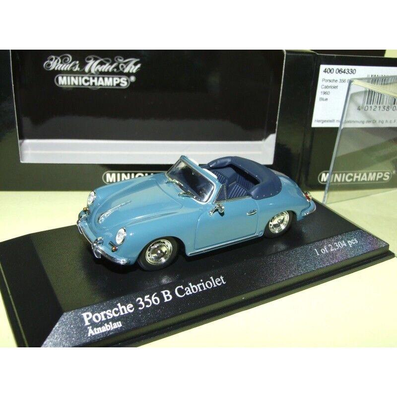 PORSCHE 356 B CABRIOLET 1960 Bleu MINICHAMPS 1 43