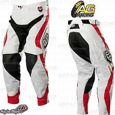 "Troy Lee Designs 2014 SE Pro Corse White Red Race Pants 30 inch 30"" Motocross"