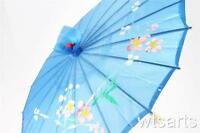 Chinese / Japanese Floral Parasol Geisha Umbrella - 80cm diameter Fancy Dress