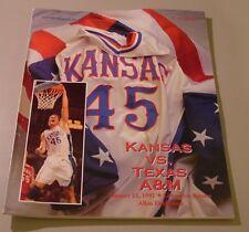 KU Jayhawk Basketball Program - Texas A&M Jan 22, 1997