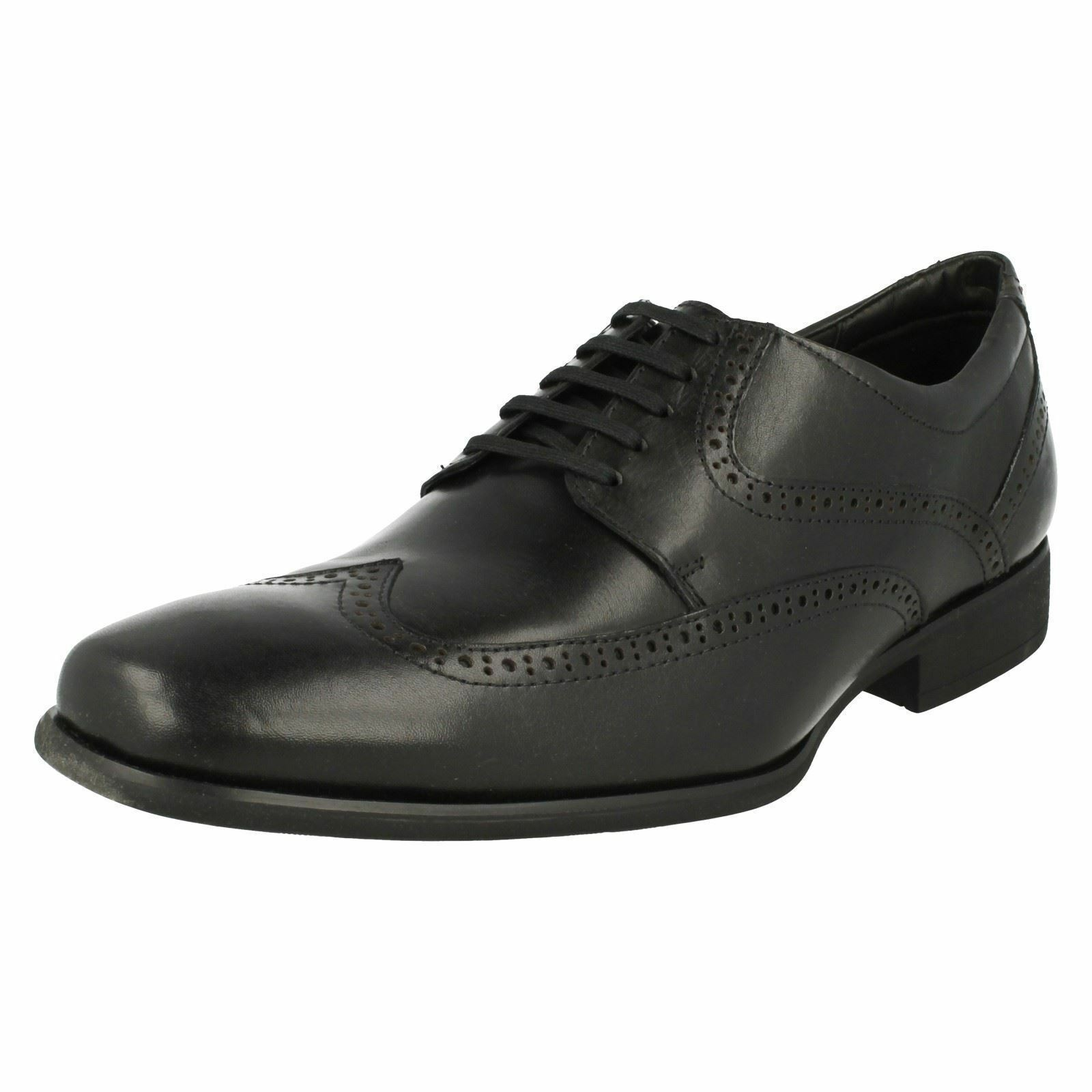 Mens Anatomic & Co Panapolis 989837 Black Leather Brogue Style Lace Up Shoes