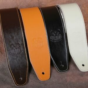 Real Vintage Leather 1.3m Guitar Strap UK Handmade for Bass//Electric//Acoustic