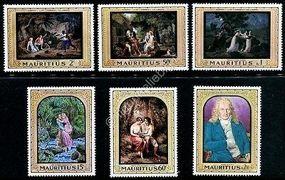 Stamps Mauritius 1968 Disegni 6 Francobolli Nuovi Mnh Designs Paintings Serie Completa Preventing Hairs From Graying And Helpful To Retain Complexion