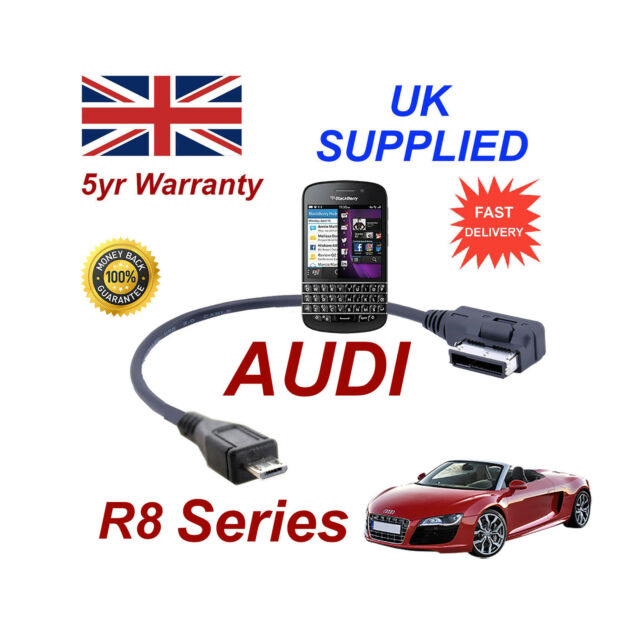 AUDI R8 Series 4F0051510M cable For BLACKBERRY Q10 MICRO USB Audio cable 30cm