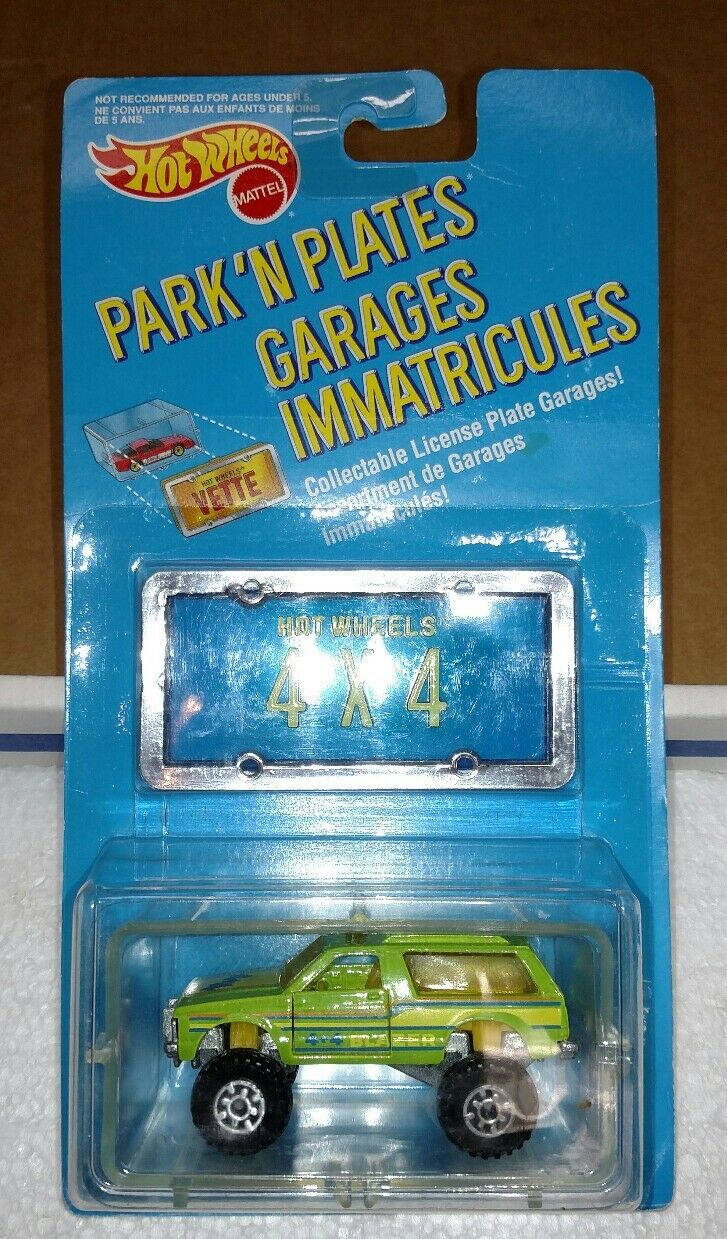 Hot Wheels Mattel Parque de Canadá n placas Blazer 4X4 Verde Nuevo