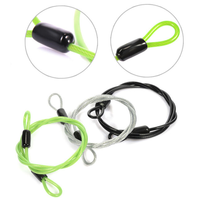 Bicycle Outdoor Sport Security Loop Mini Cable Lock 100cm x 6mm Scooter U-Lock