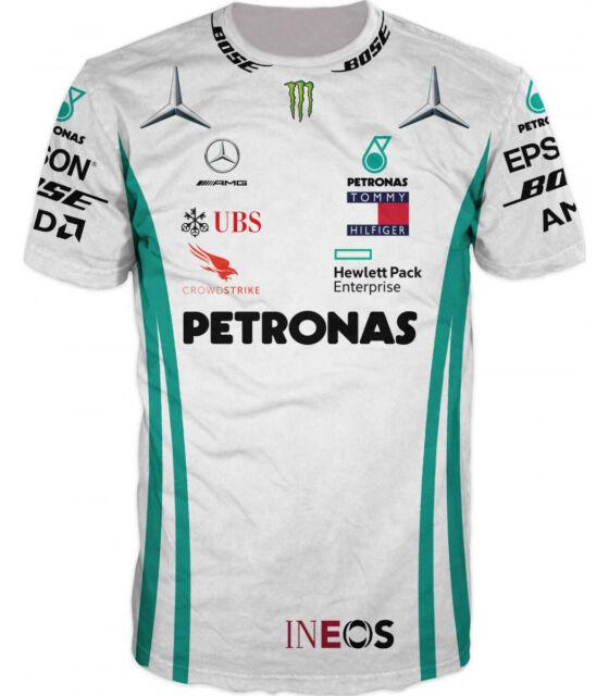 Mercedes Benz AMG Formula 1 Petronas White Long Sleeve Drivers T-Shirt XL