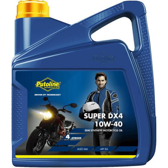 Aceite Putoline SUPER DX 4   10W-40   10W40   Semisintetico   Moto   4 litros