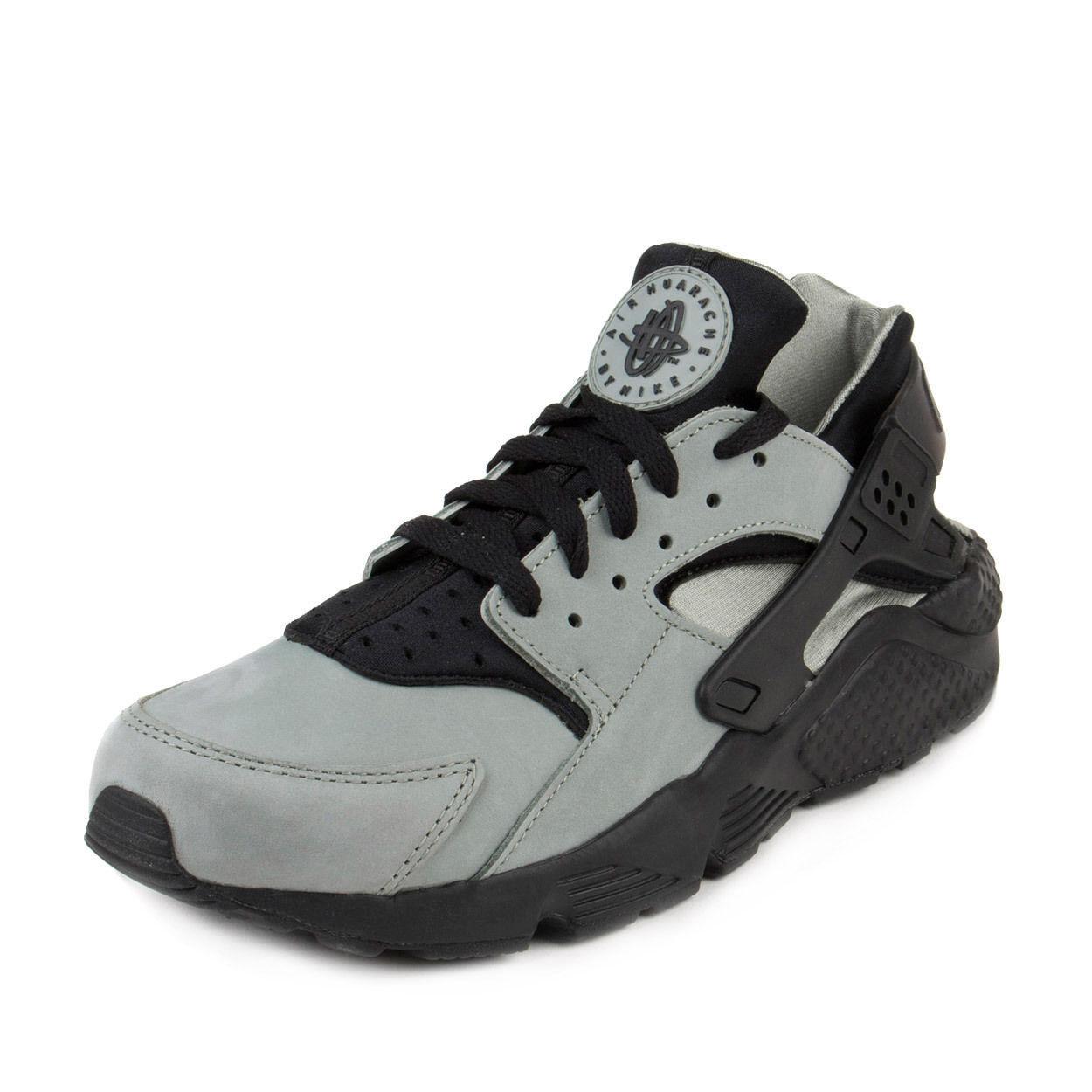 New Nike Men Air Huarrache Run PRM Training Shoe Mica Green/Black 704830-301 **