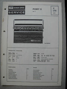 ITT-Schaub-Lorenz-Pony-11-Service-Manual-K016
