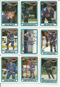 1990-Topps-Hockey-Quebec-Nordiques-Team-Set-Sakic-Cirella-LaFleur-Fortier