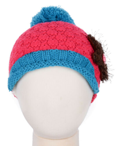 Kids Boys Girls Toddler Beanie Winter Warm Starfish Décor Skull Visor Hat Cap