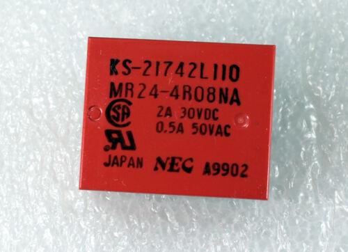 NEC PC Board Relay 4PDT 2A 30VDC  4.5V DC 20X 0.5A 50VAC