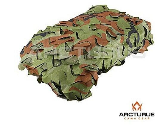 Arcturus 300D resistente Malla Camuflaje Malla Con Soporte Rejilla Woodland