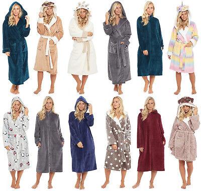 Polaire Robe De Chambre Hiver Femmes Femme Robe Nouveaute A Capuche Noel Luxe Ebay