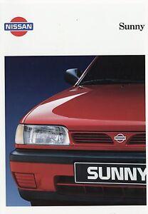 Consciencieux Nissan Sunny 1993 6/93 Prospectus Brochure Auto Autoprospekt Brochure Brosjyre-afficher Le Titre D'origine