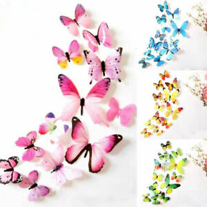 3D Butterfly Wall Stickers Art Decal Home Room Decorations Decor Kids  YI