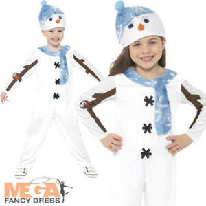 Boys Girls Kids Toddler Snowman Christmas Xmas Nativity Fancy Dress Costume 3-6