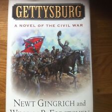 2X SIGNED Newt Gingrich AND William Forstchen BOTH Authors GETTYSBURG