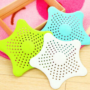1Pc Silicone Bath Kitchen Shower Hair Drain Catcher Filter Suction Cups Strainer