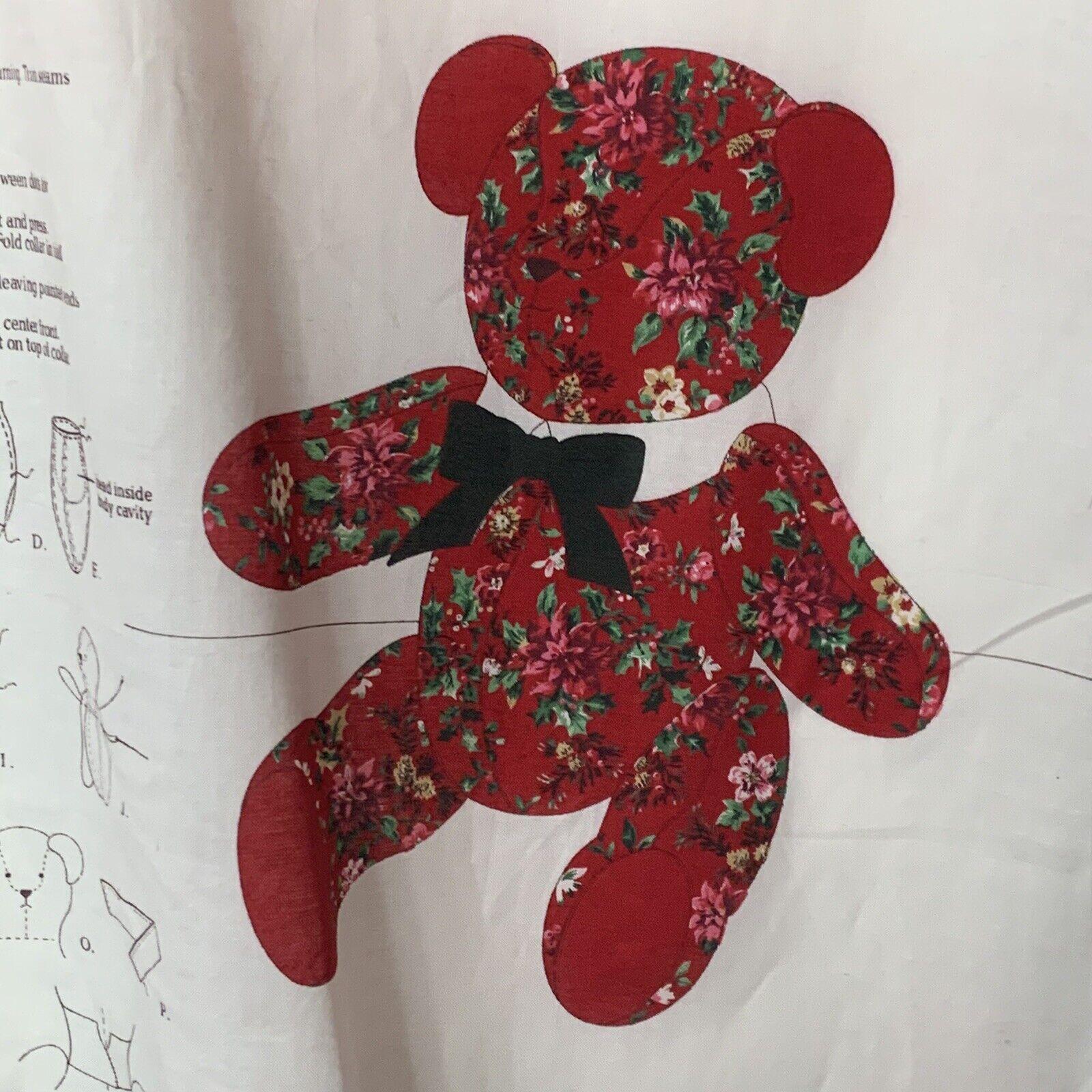 Christmas Teddy Bear Girl/'s Jumper top or vest Panel QUILT FABRIC Cranston VIP