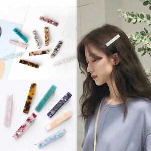 Women-Acid-Acrylic-Long-Barrettes-Hair-Clip-Bobby-Hairpin-Hair-Pin-Headdress
