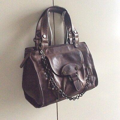 MINI BORSA BORSETTA LIU JO vera pelle catena logo HANDBAG real leather marrone | eBay