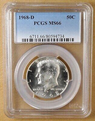 1968 D Kennedy Silver Half Dollar PCGS MS66