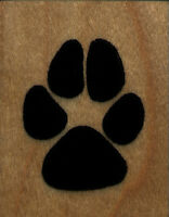 Mounted Rubber Stamps Dog Paw Print Xl Size 1 1/4 X 1 1/2