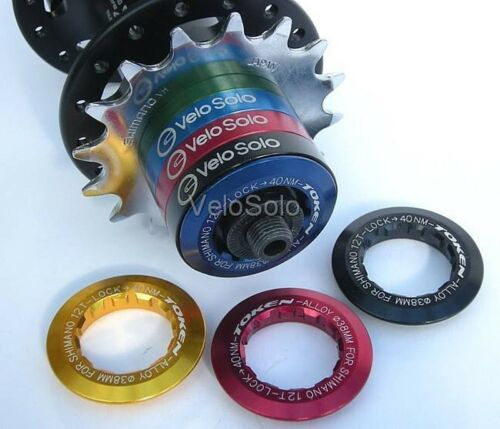 TOKEN CNC 12t LOCKRING Cassette SINGLESPEED single speed Shimano Campagnolo hub