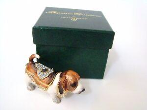 Dept-56-Jeweled-Trinket-Box-Jeweled-Hound-Dog-Hinged-Box