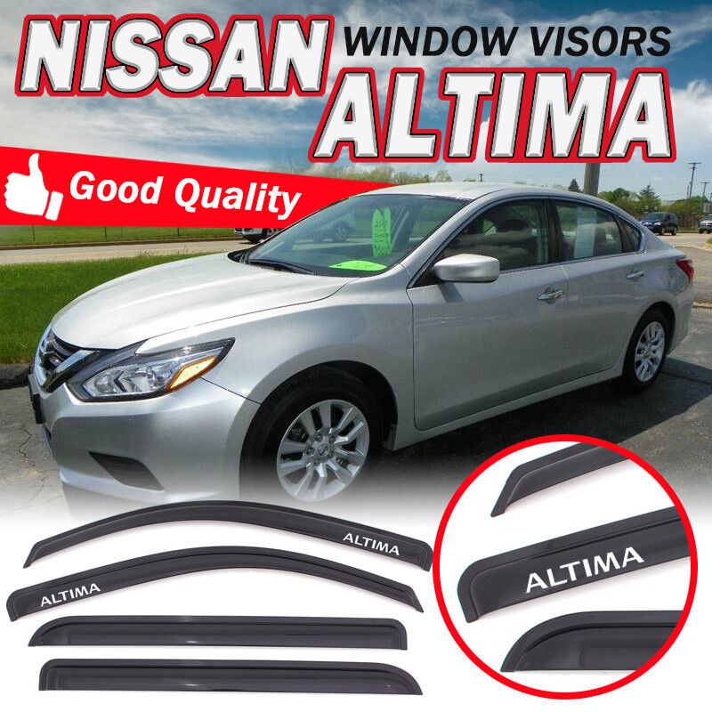 Window Vent Visors Sun Wind Shade Rain Guard Deflectors For Honda Accord 13-17