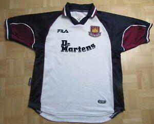 WEST HAM United Hammers away Shirt Jersey FILA 1999 2001 Dr Martens ... 8e925385a