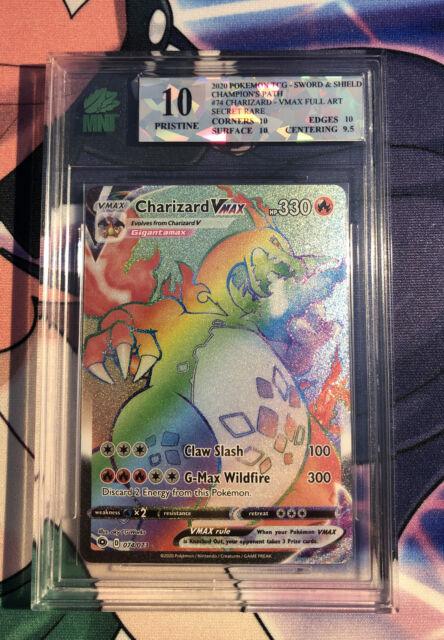 charizard vmax rainbow rare 074/073 pokemon path MNT Pristine 10!!!