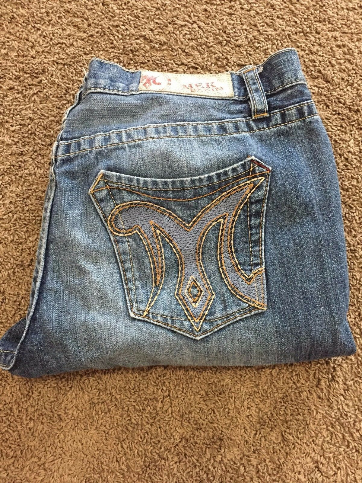 MEK Mens Size 40 x 34 Straight Jeans Pants ButtonFly