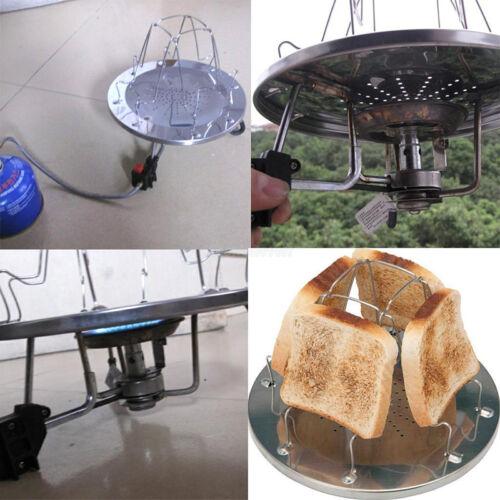 Camping toaster für Gaskocher faltbar platzsparend Brotröster Outdoor Trekking